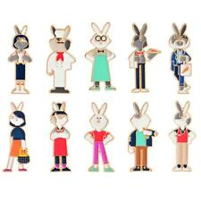 Cute Animals Rabbit and Carrot Hard Enamel Pin Lapel Brooches Badges Gift