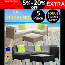 New OUTDOOR SETTING WICKER LOUNGE SET Pool Sun Sofa Couch Patio Garden Furniture