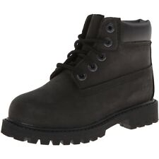 Timberland 6 Inch Classic Boot Black Nubuck Junior Ankle Boots