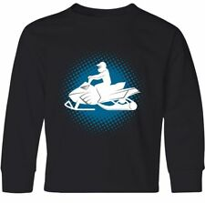 Inktastic Snowmobile Winter Extreme Sports Youth Long Sleeve T-Shirt Snow Rider