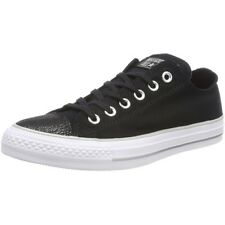 Converse Chuck Taylor All Star Tipped Metallic Toecap Ox Black Textile Trainers