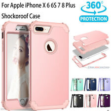 Hybrid Heavy Duty Shockproof Full-Body Protective Case for iPhone X 8/7/6s Plus