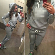 2Pcs Women Tracksuit Hoodies Sweatshirt Pants Sets Sport Wear Zipper Casual Suit