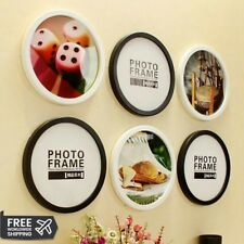 Round Photo Frame DIY Wooden Frames Hanging Wall Picture Holder Home Decoration