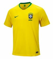 Nike Men CBF Brazil 2018 Brasil Home S/S Shirt World Cup Football Top Jersey