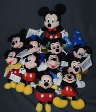 You Pick One Mickey Mouse Bean Bag Plush Disney Store Applause Sorcerer Toga