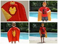 Ironman Kids Birthday Party Favors, Superhero Mask, Cape can Personalize Name