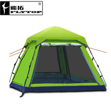 3-4 Persons One Bedroom Tent Outdoor Camping Hiking Single Layer Accessories