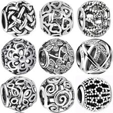 925 silver openwork european sterling charms bead for bracelet necklace BK004
