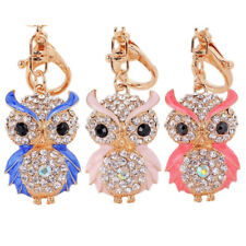 Rhinestones Pendant 1Pcs Owl Crystal Key Chain Cute  Heat Sell For Car Keychains