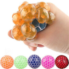 Soft Funny Mesh Ball Stress Squeeze Grape Toy Anxiety Relief Stress Ball Kid Toy