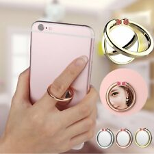Universal Mirror 360 Degree Rotation Mobile Phone Finger Holder Ring Stand QC