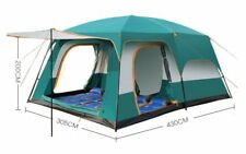 Large Tent Family Waterproof Double Layer 8 10 12 Person Cabin Tent Two Living