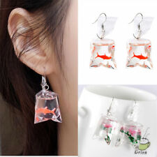 ECC9 Resin Water Bags Shape Goldfish Ear Studs Drop Earrings Pendant Cartoons
