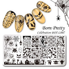 Nail Stamping Plates Halloween Art Born Pretty Template Stencil Stamp 1 Sheet