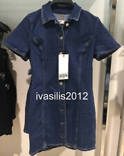 ZARA NEW WOMAN DENIM MINI DRESS SHIRT STYLE BLUE XS-L REF.6688/217