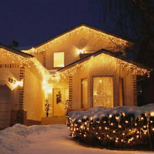 Christmas 4M 96 LED Indoor Outdoor String Lights 110-220V Curtain Icicle Drop LE