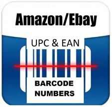 1000 UPC EAN Numbers Barcodes Bar Code EBay Amazon US UK EU Delivery by Email