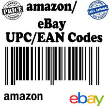 10000 Different UPC/EAN Numbers Barcodes Bar Code EBay Amazon US UK EU etc Email