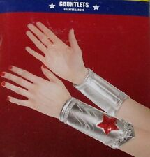 WONDER WOMAN Costume Wrist Cover GAUNTLETS (Adult) or FINGERLESS GLOVES (Child)