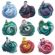 Xmas Fluffy Floam Slime Mud Soft Scented Stress Relief Sludge Toy Kid Adult Gift