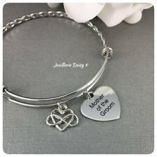 Bangle Bracelet Gift for Mother of the Bride or Groom Wedding Jewelry Idea
