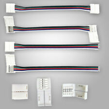 1-100PCS 12MM 5 PIN Connector Cable Wire For 5050 RGBW LED Strip Free Soldering