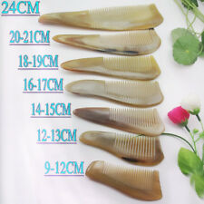 9-25 cm Natural Cattle horn comb high quality yellow ox horn comb