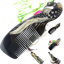 18cm * 6cm Natural Cattle horn comb high quality Black ox horn comb