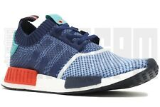 Adidas NMD R1 PRIMEKNIT PACKERS 8 9 10 11 12 BLUE RED pharrell neighborhood nbhd