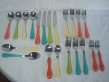21 Pieces~FIESTA~Colorful Flatware~Spoons~Knives~Forks~Multi Colored