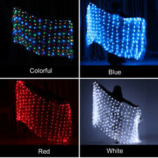 LED Light Party Stage Props Real Silk Scarf Belly Dance Stage Veil Performance
