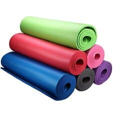 """10mm Extra Thick Non-slip Yoga Mat Pad Exercise Fitness Pilates Sport 72"""" x 24"""""""