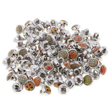 100pcs Assorted Vintage Metal Shank Buttons Coat Sewing Craft Embellishments