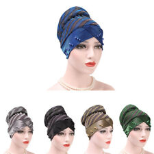 New Women Cancer Chemo Cap Muslim Hair Loss HeadScarf Turban Hat Head Wrap Cover