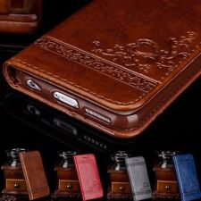 Genuine Leather Flip Wallet Phone Case Cover for iPhone 6 7 Plus Samsung NoteXB