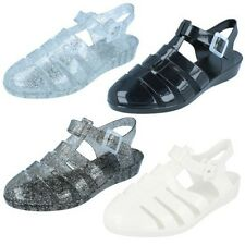 Ladies Spot On Wedge Jelly Shoes F10320