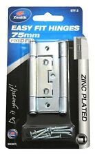 Zenith EASY FIT HINGES 2Pcs Fixed Pin, Internal Use, Zinc Plated- 75mm Or 90mm