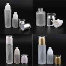 2PCS Travel Glass Empty Cosmetic Bottle Toiletries Container Bottle 30/80ml