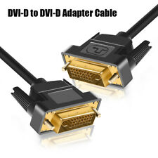 Converter Male to Male DVI-D to DVI-D 24+1 For DVD Laptop HDTV XBOX Projector