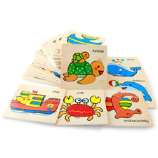 Lot Wooden Lovely Puzzle Educational Developmental Baby Kids Training Toys Gift