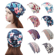 Ruffle Flower print Cancer Chemo Hat Elastic Women Turban Head Wrap Cap
