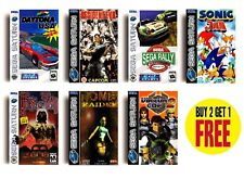 RETRO SEGA SATURN GAME POSTERS COLLECTION A3 / A4 Print Fan Art