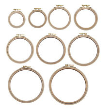 Round Ring Embroidery Circle Wood Hoops Wooden Cross Stitch Hoop Frame Craft