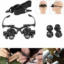 Head Loupe Magnifying Led Magnifier Eye Glass Lens Light Head Set Band Visor HDR