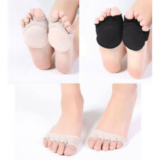 2 Pairs Women Open Toe Foot Pad Socks Heelless Forefoot Half Socks Antiskid