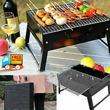 Outdoor Portable Compact Charcoal Barbecue BBQ Grill Camping Cooker Bars Smoker