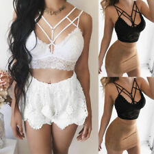 Brand New Women Sexy Deep V Neck Tanks top Lace Short Crop Top Vest Camisole