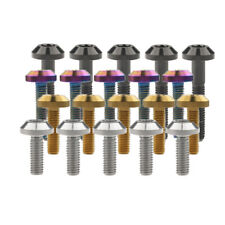 5PCS Titanium Bolts M6x12/15/20/25/30/35mm Umbrella Head Ti Bolt Bike MTB Screws