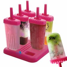 6PACK Ice Cream Maker Popsicle Mold Set with Tray and Drip Guard